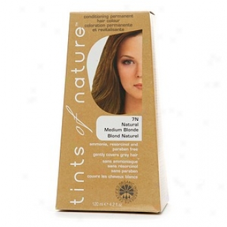 Tints Of Nature Conditioning Perjanent Hair Color, Natural Medium Blonde 7n