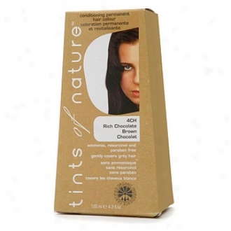 Tints Of Nature Conditioning Permanent Hair Disguise, Rich Chocolate Brown 4ch