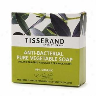 Tisserannd Aromatherapy Anti-bacterial Vegetable Soap, Tea-tree, Avocado & Sea Buckthorn