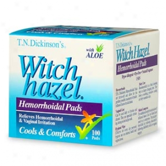T.n. Dickinson's Witch Hazel Hemorrhoidal Pads