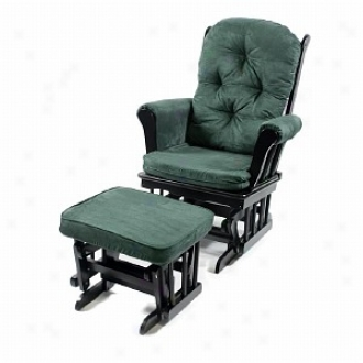 Today's Mom Madison Glider & Ottoman Set, Forest And Black