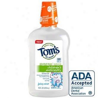 Tom's Of Maine Children's Anticavity Flouride Rinse, Juicy Mint