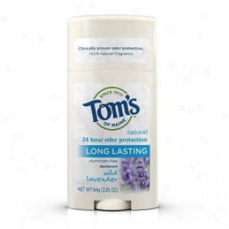 Tom's Of Maine Long Lasting Natural Aluminum Free Deodorant Sgick, Wild Lavender