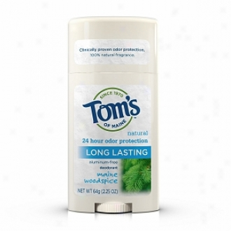 Tom's Of Maine Men's Long Lasting Stick Deodorant Montain Spring, Maine Woodspoce