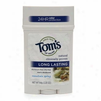Tom's Of Maine Men's Long Lasting Stick Deodorant, Mountain Spring