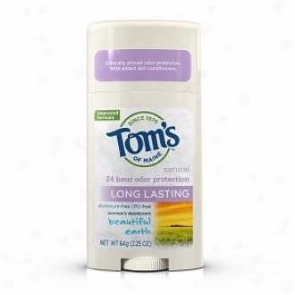 Tom's Of Maine Women's Long Lasting Natural Aluminum Free Deodorant Stick, Beautiful Earth