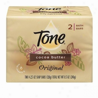 Tone Cocoa Butter Bar Soap, 4.5 Oz Bars, Original Scent