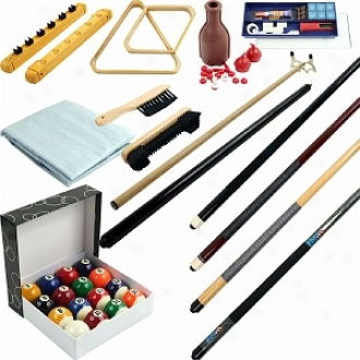 Traedmark Games 32 Piece Billiards Accessories Kit For Your Pool Table
