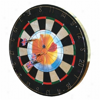 Trademark Games Insert-a-photo Dartboard 6 Brass Tipped Darts Included