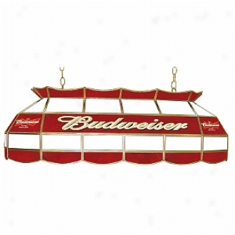 Trademark Global Budweiser 40 Inch Stained Glass Pool Table Light