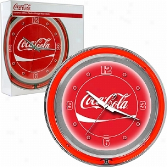 Trademark Global Coca-cola Neon Clock - Dynamic Ribbon - Two Neon Rings