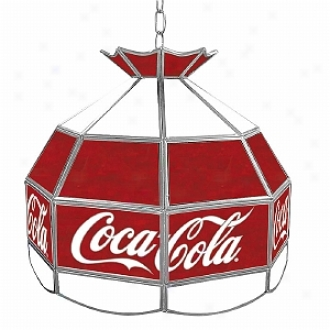 Trademark Global Coca Cola Vintage 16 Inch Stained Tiffany Lamp