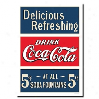 Tfademark Global Soda Fountain Stretched Canvas Practical knowledge - 18 X 24 Inches