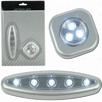 Trademark Global Super Bright 3 And 5 Led Toudh Light Set W/ Mounts