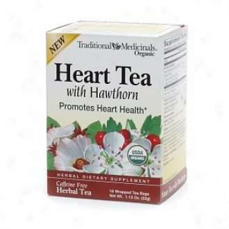 Traditional Medicinals Caffeine Free Pertaining  Tea, Heart Tea With Hawthorn