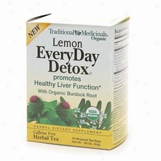 Traditional Medicinals Caffeine Free Herbal Tea, Lemon Everyday Detox