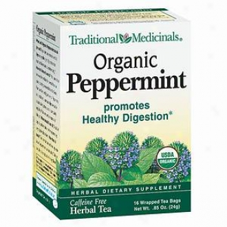 Traditional Medicinals Caffeine Free Herbal Supper, Organic Peppermint