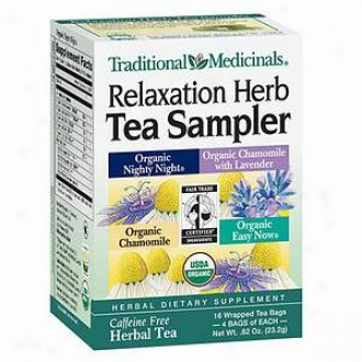 Traditional Medicinals Caffeine Free Hergal Tea, Relaxatioh Herb Sampler