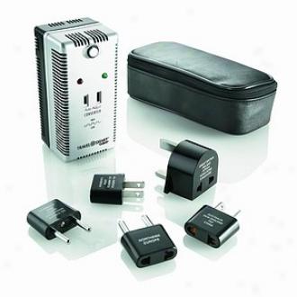 Travel Smart By Conair 2000 Watt Auto Adjust Smart Converter Adapter Set