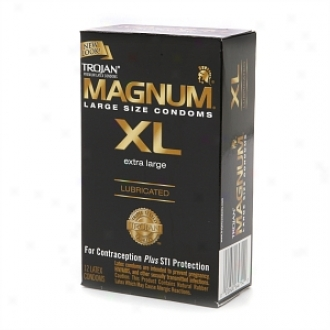 Trojan Lubricated Latex Condoms, Magnum Xl, Extra Large