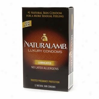 Trojan Naturalamb Lubricated Condoms, Natural Skin