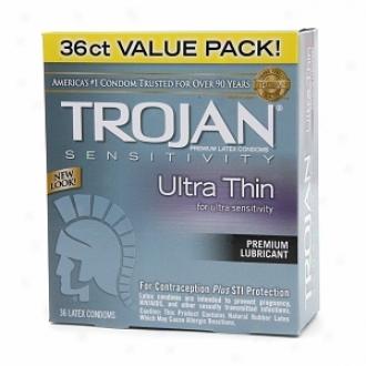 Trojan Ultra Thin Lubricated Latex Condoms