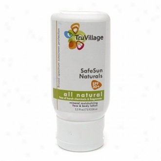 Truvillage Mineral Sunscreen Lotion Spf 30+, Fresh Citrus Scent