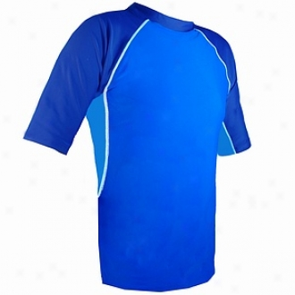 Tuga Uv Protective Rashguard Swimsuit, Mens Ocean, Smalll