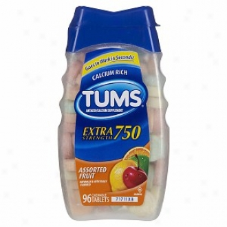 Tums E-x Extra Strength Antacid/calcium Supplement, Assorted