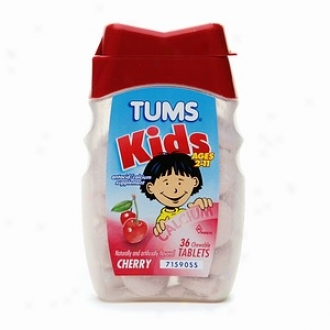 Tums Kids, Antacid/calcium Supplement, Chewable Tablets, Cherry