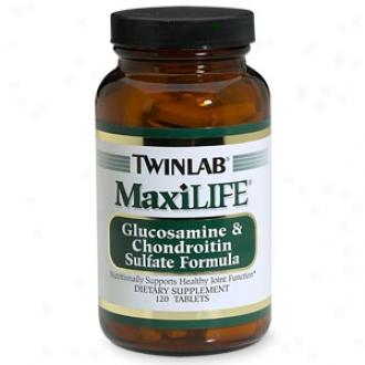 Twinlab Maxilife, Glucosamine & Chondroitin Sulfate Formula, Tablets