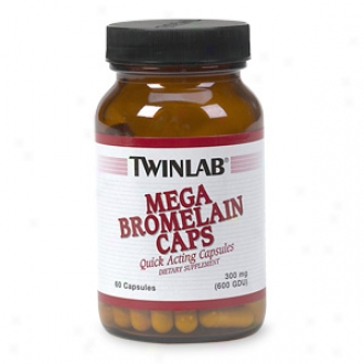 Twinlab Mega Bromelain Caps, 300 Mg, Capsules