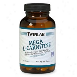 Twinlab Mega L-carnitine, 500mg