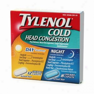 Tylenol Cold Head Congestion Day & Night Combination Pack Capleets, Cool Break open