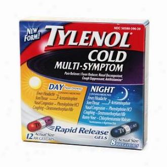 Tylenol Cold Multi-symptom Day & Night Pack, Rapid Release Gels