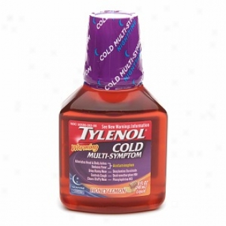 Tylenol Cold Multi-symptom Warming Night Time Liquid, Honey Lemon