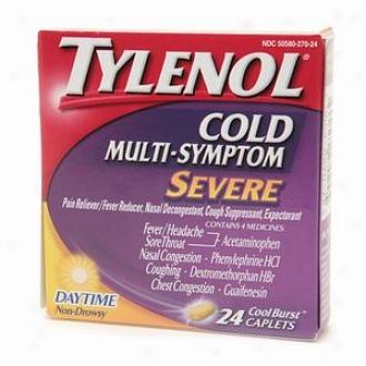 Tylenol Cold Severe Cold Multi-symptom, Daytime Caplets, Cool Burst