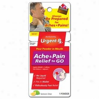 Urgentrx Ache & Pain Relief To Go Aspirin+caffeine Pain Reliever+adjuvant Powder, Lemon Lime