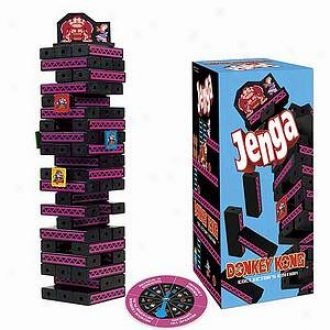 Usaopoly Jenga Donkey Kong Collector's Edition Ages 6 Abd Up