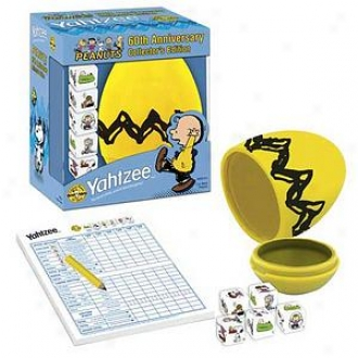 Usaopoly Yahtzee Peanuts 60th Anniversary Ages 8 And Up