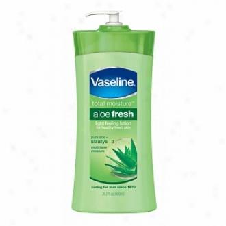 Vaseline Total Moistuee Light Feeling Lotion, Aloe Fresh