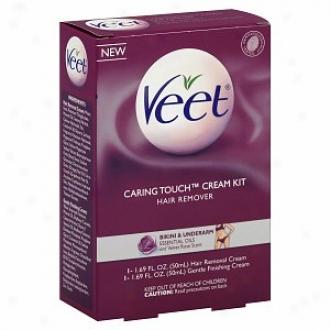 Veet Caring Touch Hair Removal Cream Kiit, Bikini & Underarm