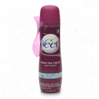 Veet Spray On Hair Removal Cream, Senditive Formula