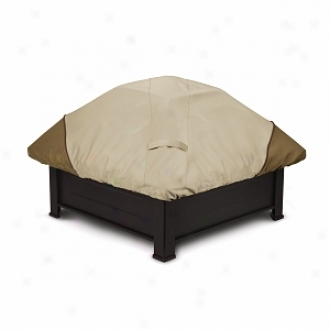 Veranda Collection Patio Fire Pit Cover Square, Pebble, Bark And Earth
