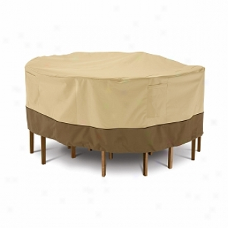 Veranda Collection Patio Table And Chairman Set Cover Bistro, Pebble, Bark And Earth