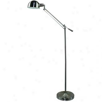 Verilux Brookfield Deluxe Natural Spectrum Floor Lamp, Brushed Nickel