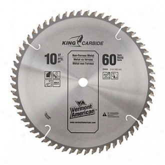 Vermont American 60 Tpi 10in Semi-industrial Carbide Tipped Circular Saw Blade 2