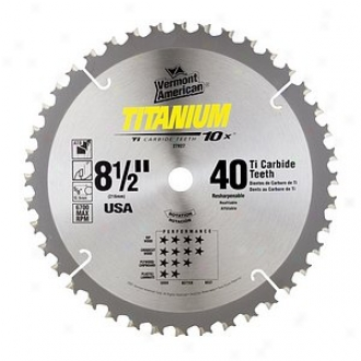 Vermont American 8-1/2in Titanium 10x Series Carbide Tipped Circular Saw Blade 2