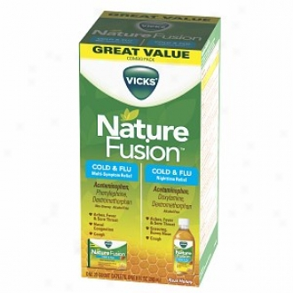 Vicks Nature Fisio nCold & Flu Relief Day+night Combo Pack, Real Honey