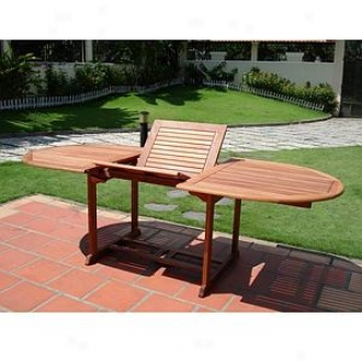 Vifah View Extention Table With Butterfly Shorea Hardwood